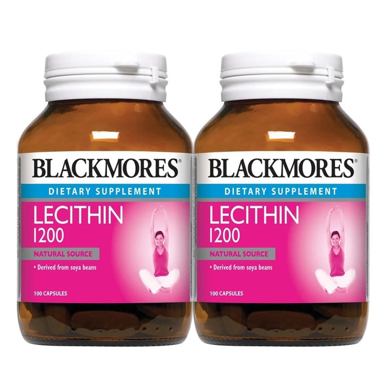 Blackmores Dietary Supplement Lecithin 1200 100 / 100 x 2 Capsules