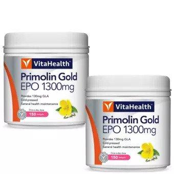 Vitahealth Primolin Gold Epo 1300Mg 2 X 150 Vegicaps