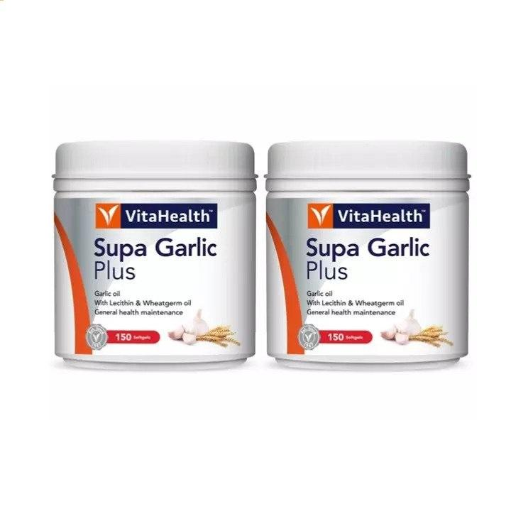 Vitahealth Supa Garlic Plus 2 X 145 Softgels Healthcare & Supplements