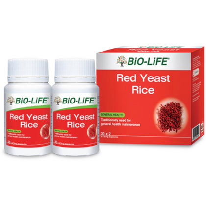 Bio-Life Red Yeast Rice 2 x 30 Capsules