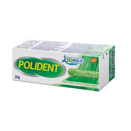 Polident Adhesive Cream (Fresh Mint) 20g