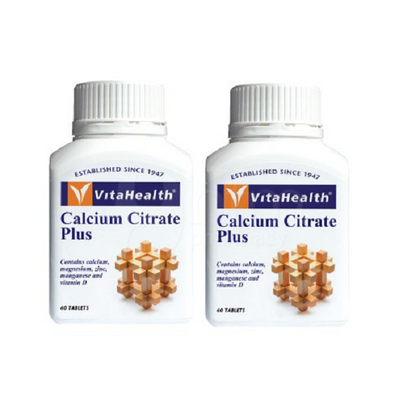 Vitahealth Calcium Citrate Plus 2 X 60 Tablets