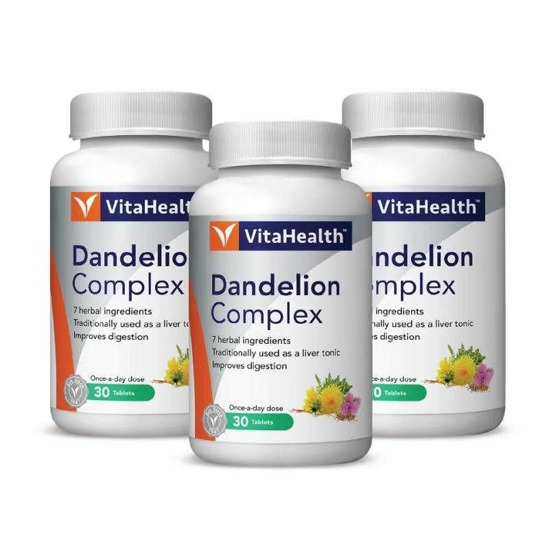 Vitahealth Dandelion Complex Plus 873.16Mg 3 X 30 Tablets Healthcare & Supplements