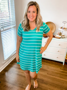 Abby Perfect V-Neck Striped Dress
