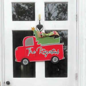 Christmas Truck Door Hanger