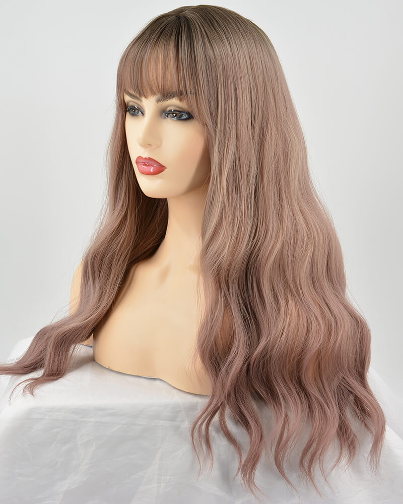 Ombre Pink Hard Front Wig HW031