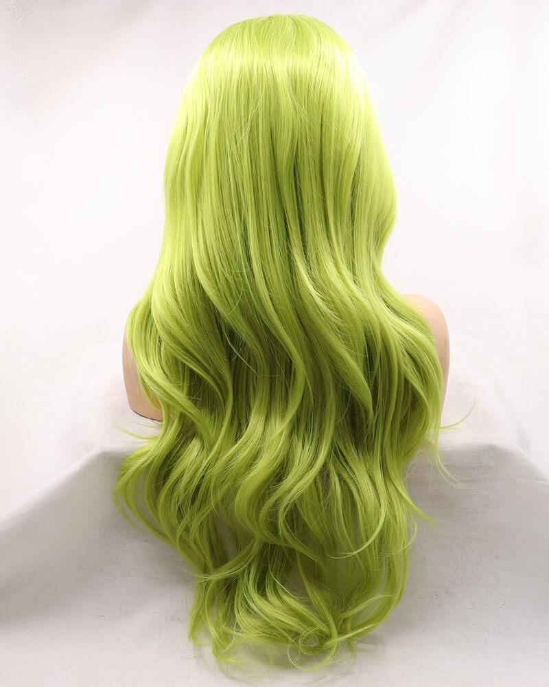 Avocado Green Synthetic Lace Front Wig WT142