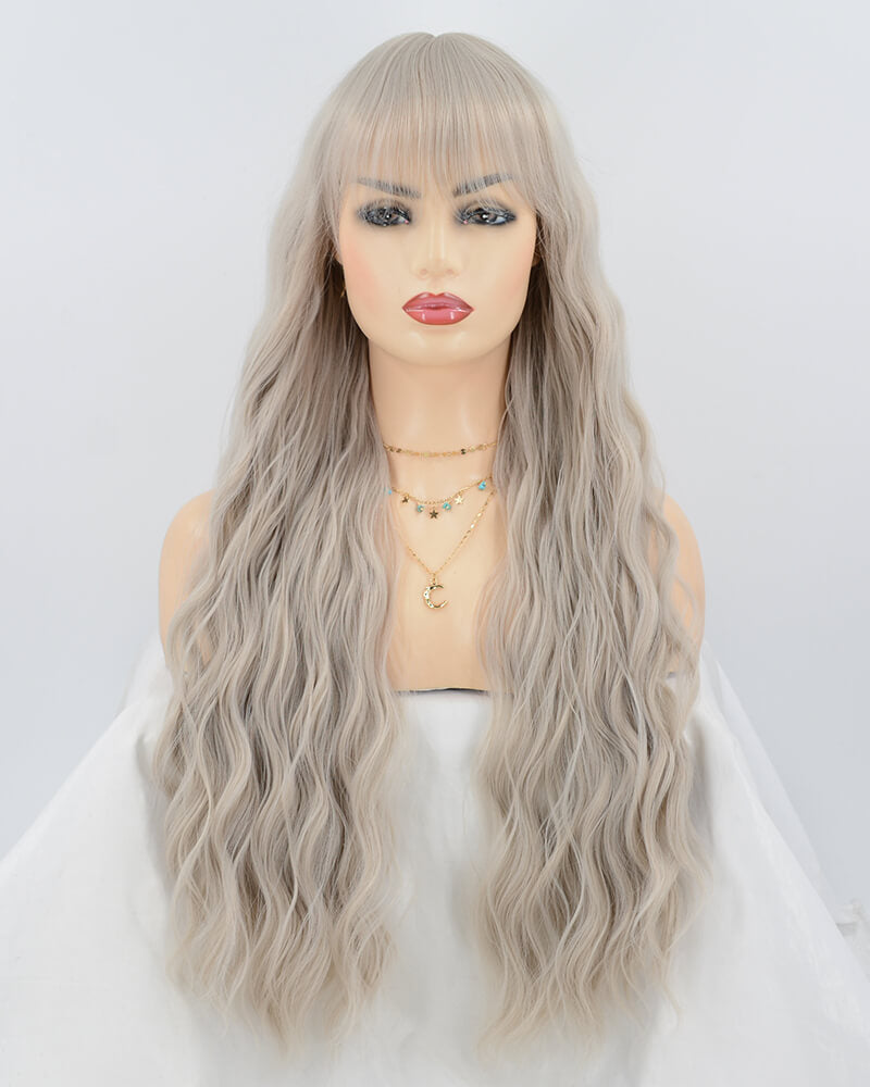 Grey Curly Synthetic Wig HW085