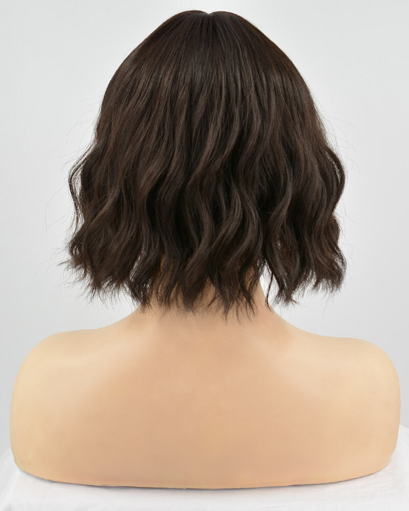 Natural Black Short Hard Front Wig HW006
