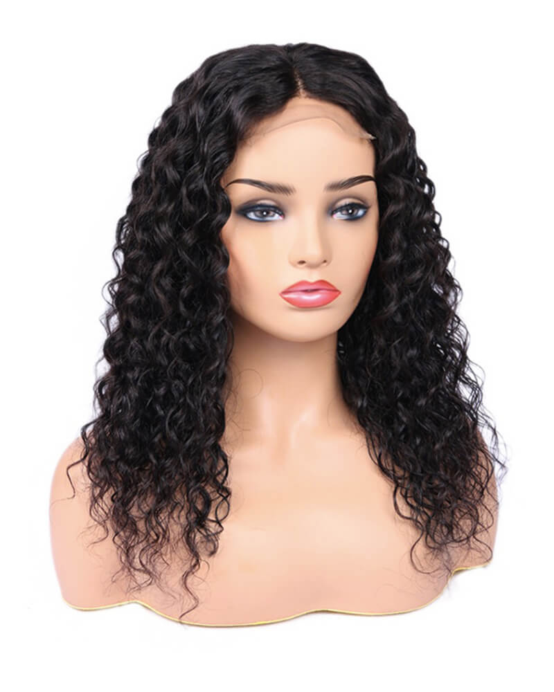 Black Curly Short Virgin Human Hair HT028