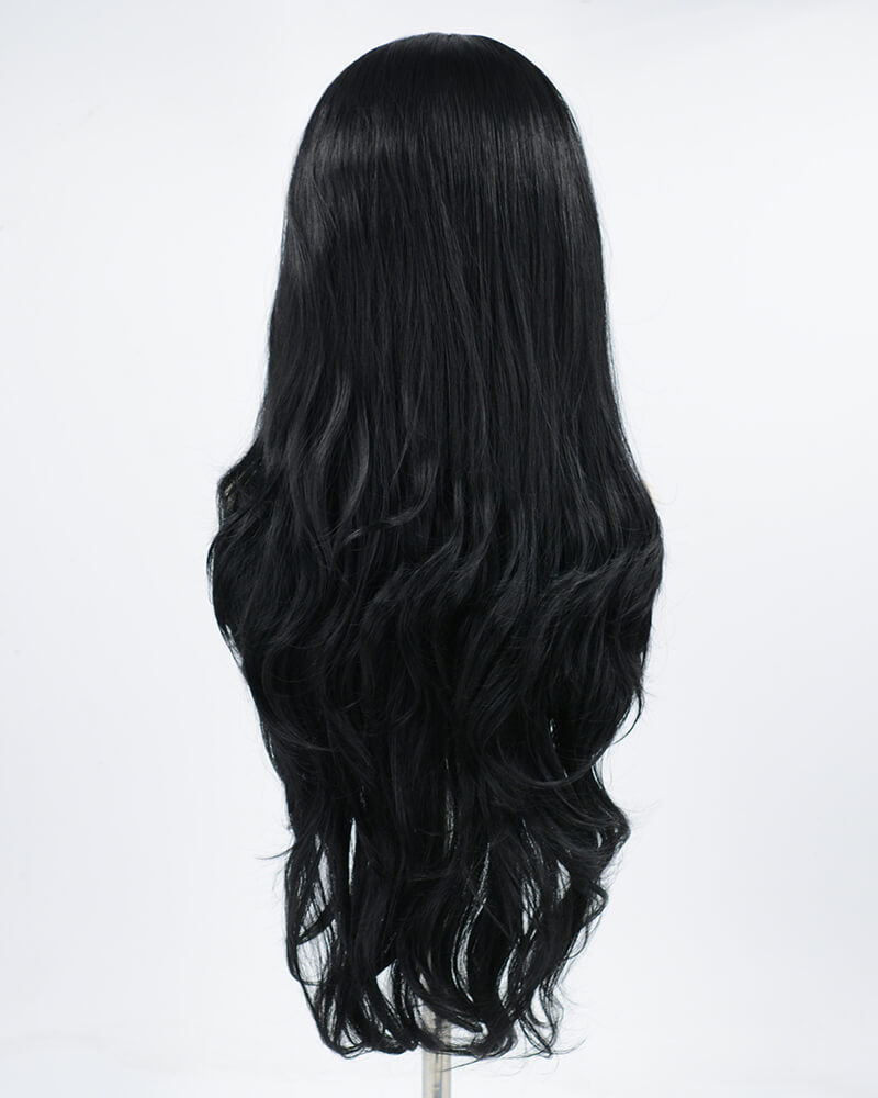 Black Wavy Synthetic Lace Front Wig WT029
