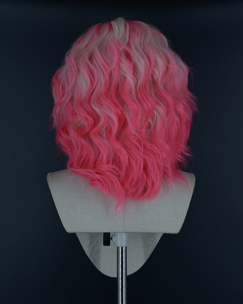 Pink Ombre Blonde Synthetic Lace Front Wig WW014