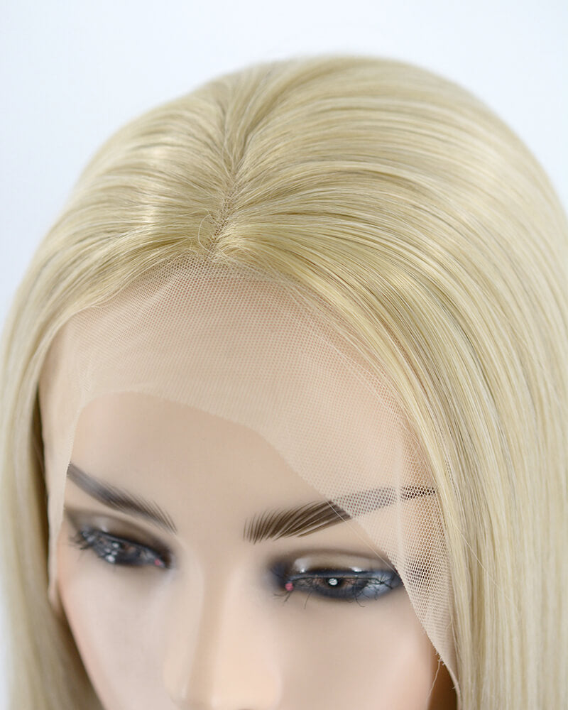 Ombre Blonde Straight Synthetic Lace Front Wig WW176