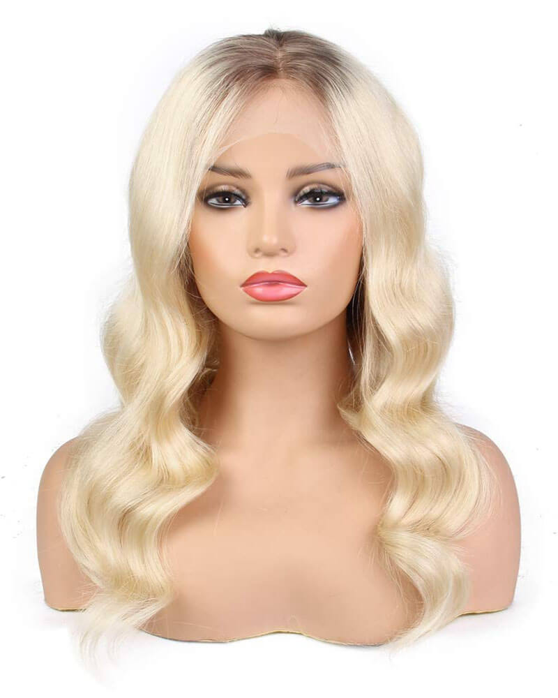 Virgin Ombre Blonde Human Hair Lace Wig HT010