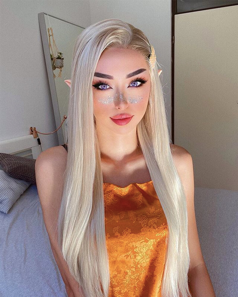 Blonde Synthetic Lace Front Wigs WT006