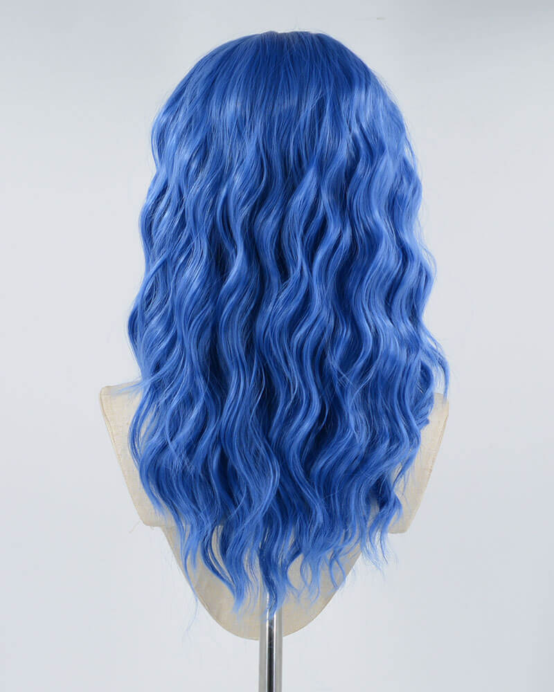 Blue Short Synthetic Lace Front Wig WW064