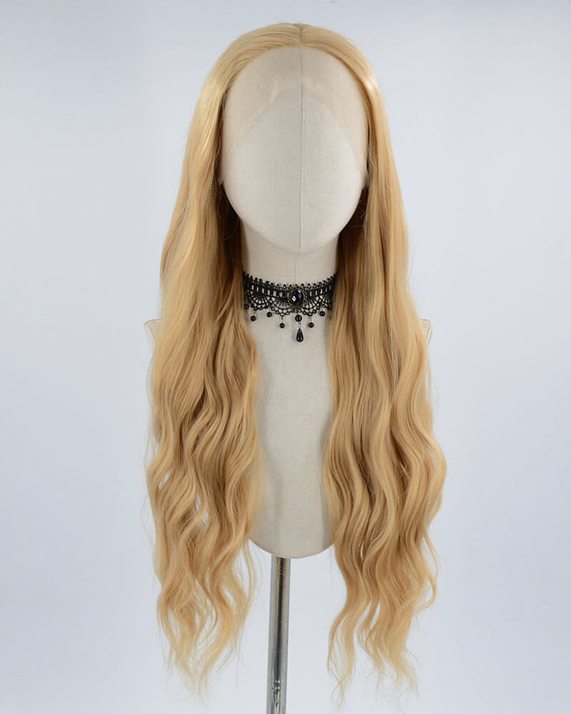 Natural Brown Synthetic Lace Front Wig WW025