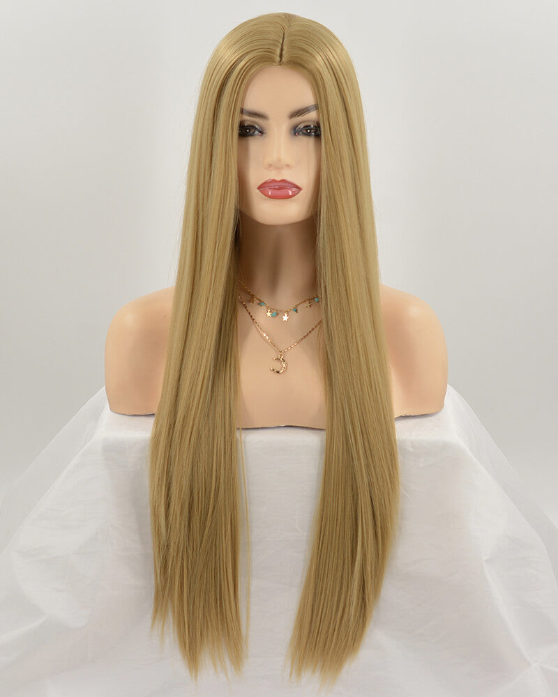 Brown Wefted Cap Synthetic Wig HH011