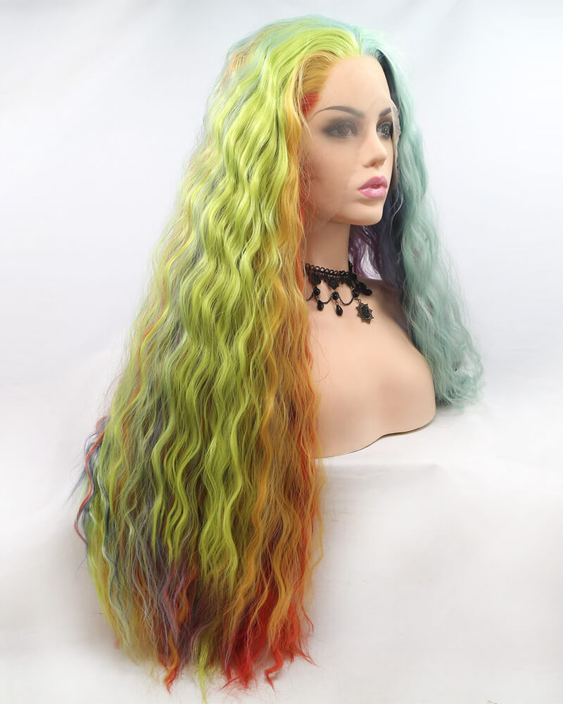 Rainbow Synthetic Lace Front Wig WT079