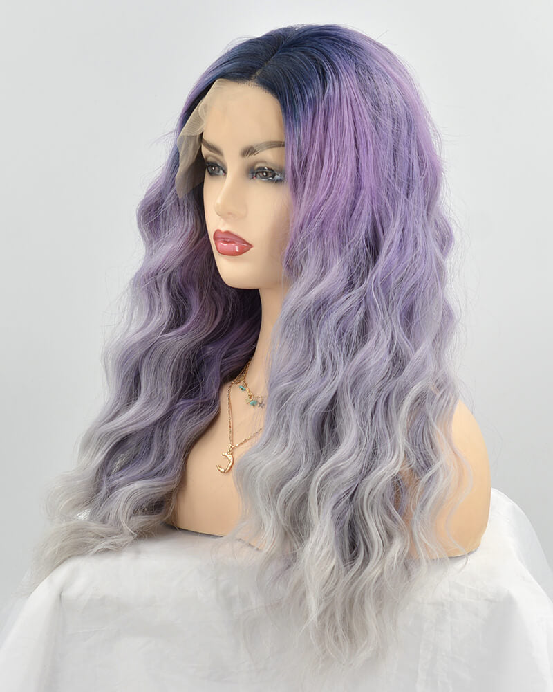 Ombre Wavy Synthetic Lace Front Wig WW243