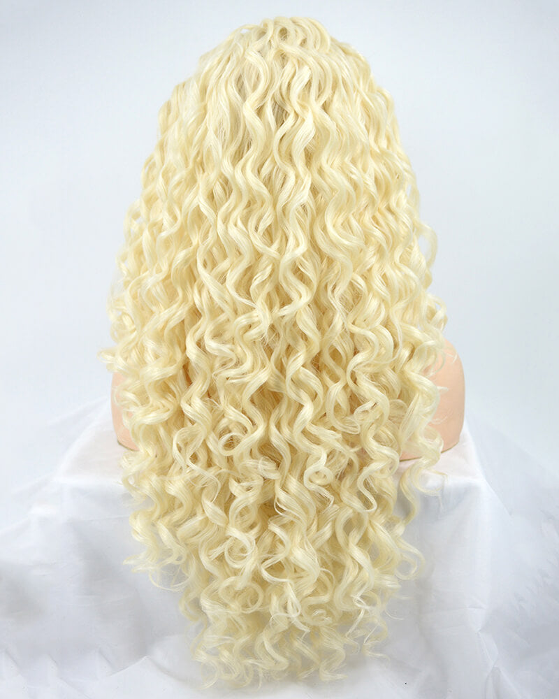 Platinum Blonde Synthetic Lace Front Wig WW117
