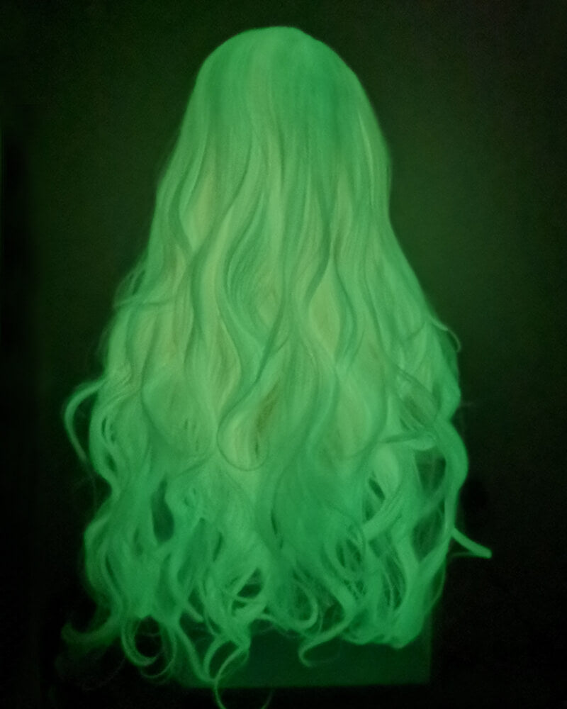 Glow in the Dark Wig White Lace Front Wig WT110