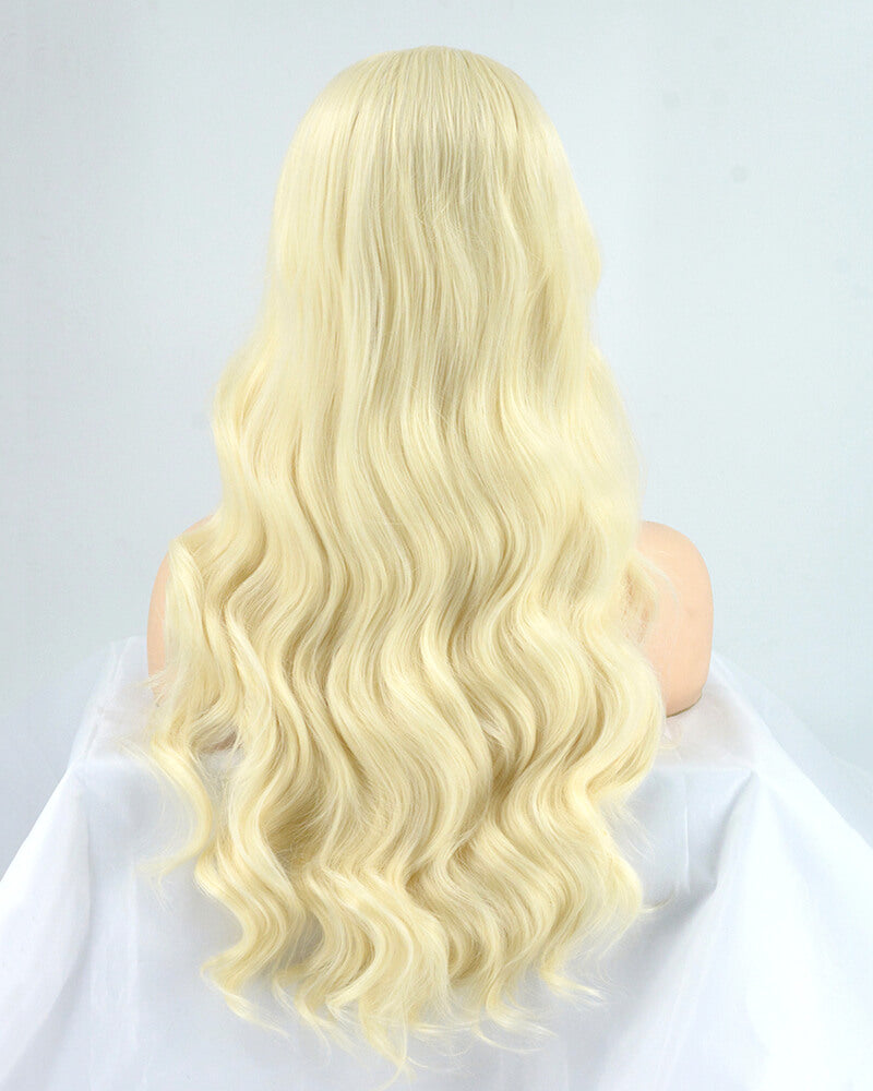 613 Blonde Wavy Synthetic Lace Front Wig WW160