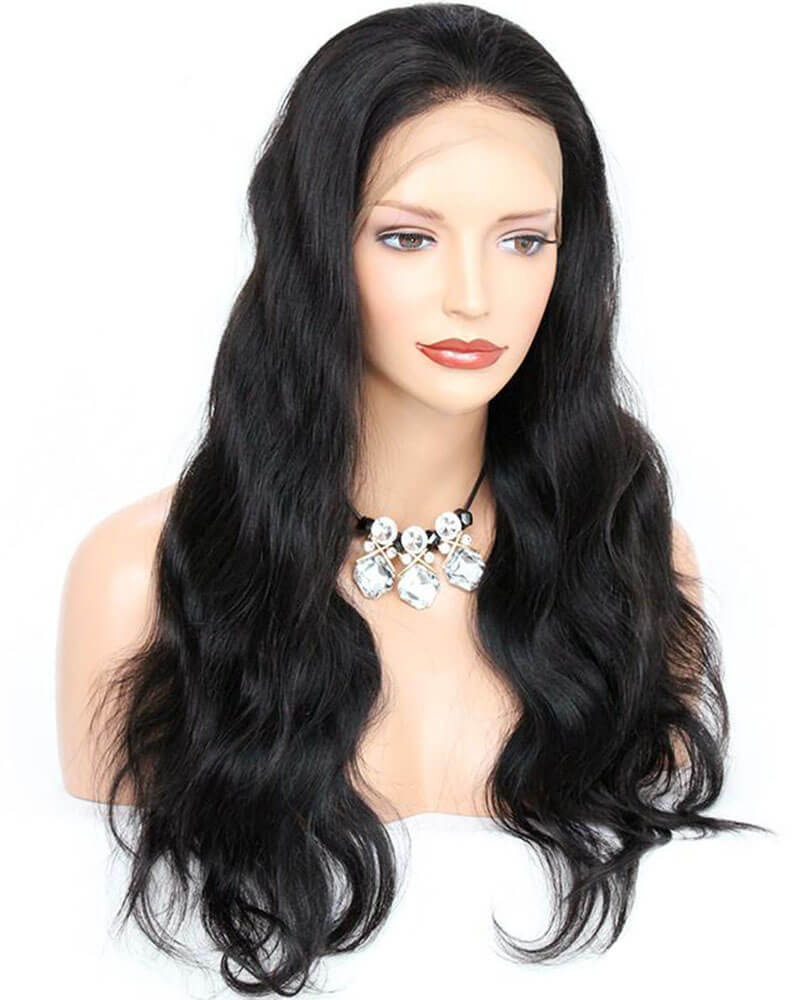 Pre-plucked Hairline Black Human Hair Wig HT021