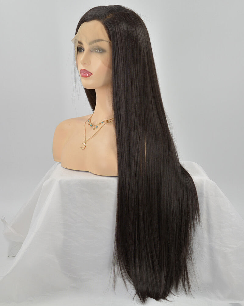 Natural Black Synthetic Lace Front Wig WW255
