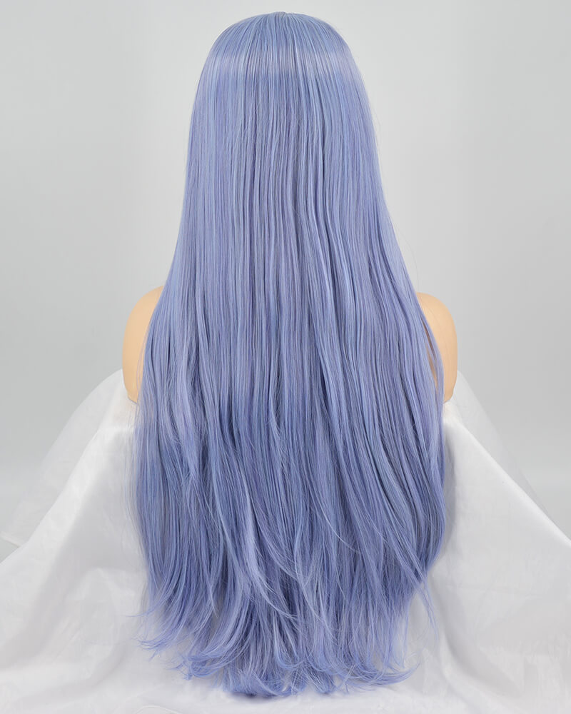 Long Blue Synthetic Lace Front Wig WT170