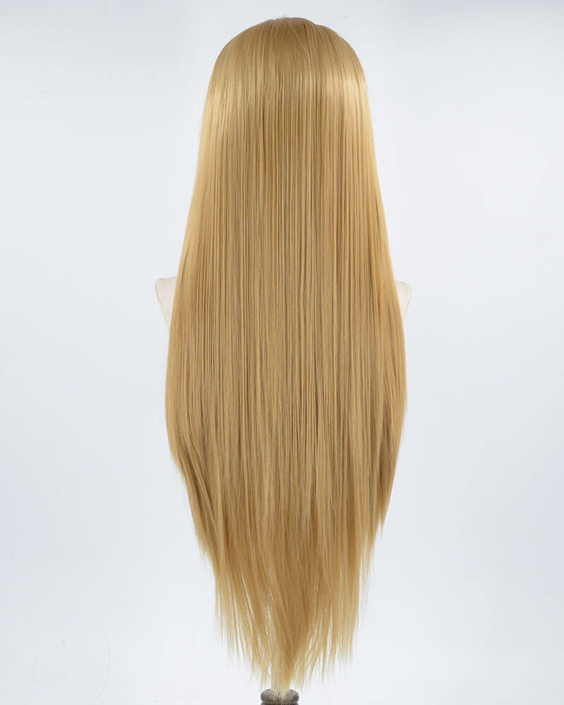 Natural Brown Wavy Synthetic Lace Front Wig WW025