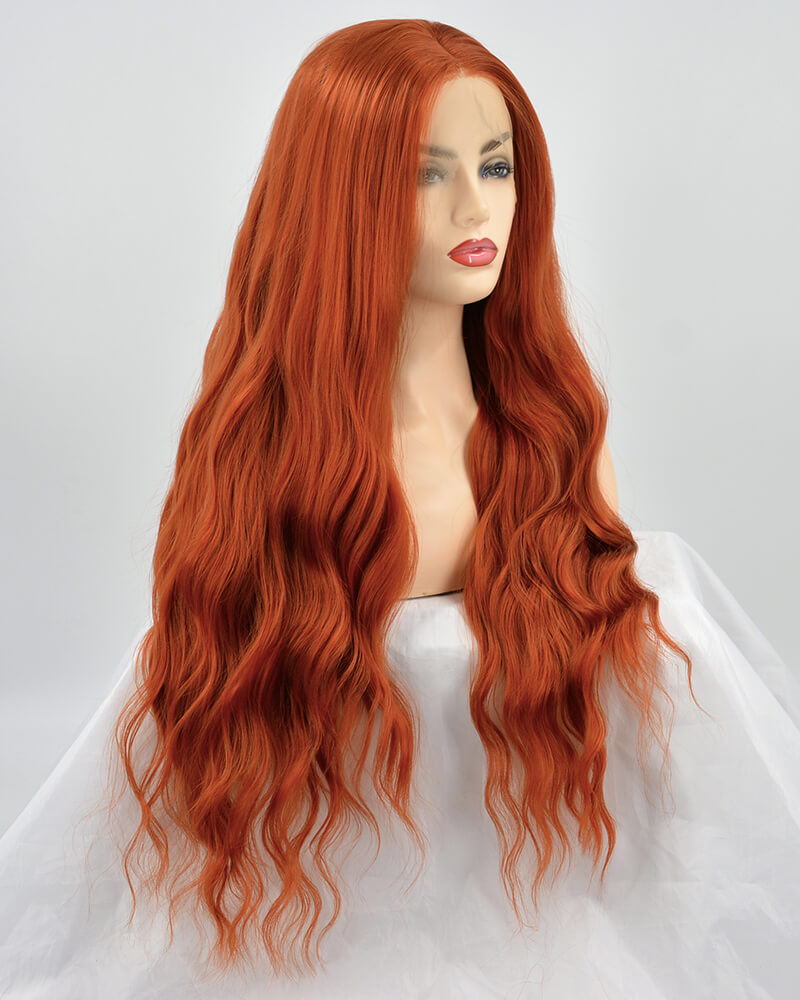 Cooper Red Synthetic Lace Front Wig WT166