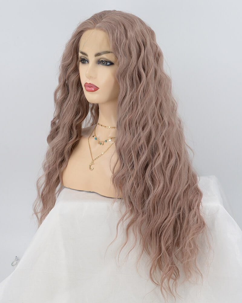 Curly Ombre Green Synthetic Lace Front Wig WT132