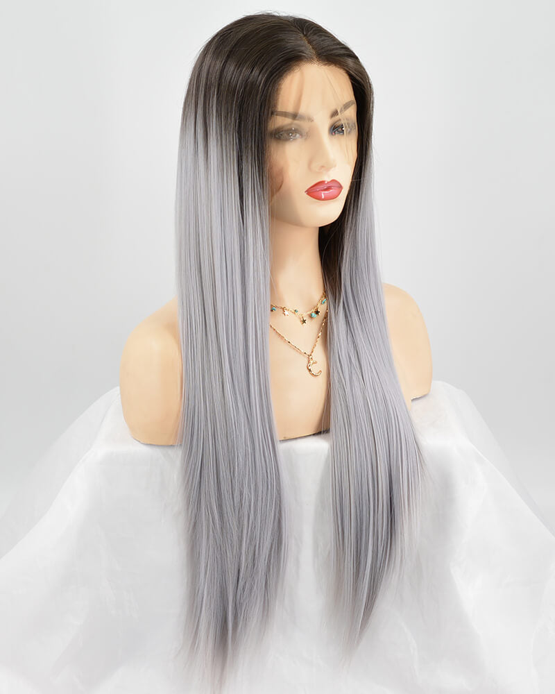 Long Straight Synthetic Lace Front Wig WT174