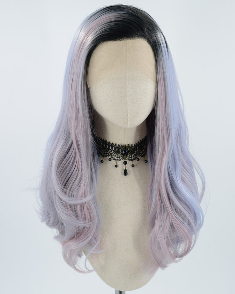 Mermaid Purple to Pink Synthetic Lace Front Wig WT128