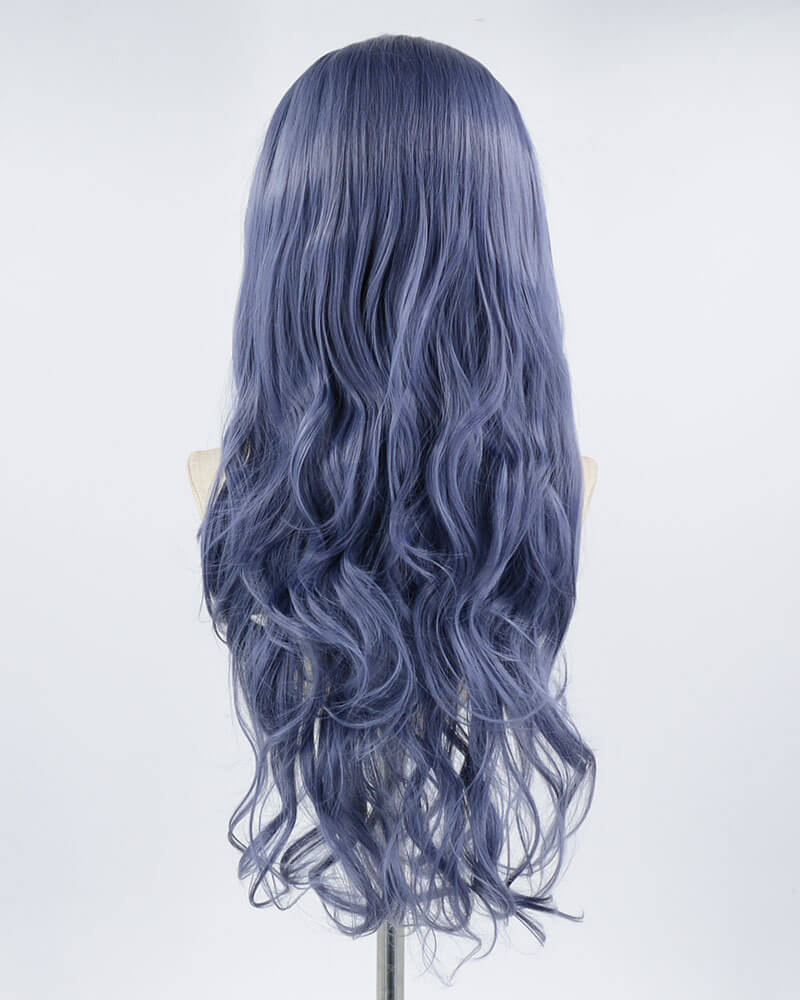 Mixed Blue Synthetic Lace Front Wig WW214