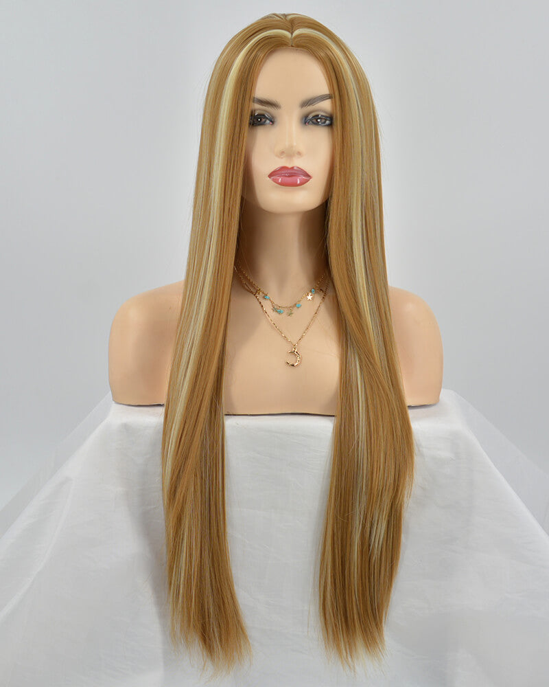 Mixed Brown Wefted Cap Synthetic Wig HH025