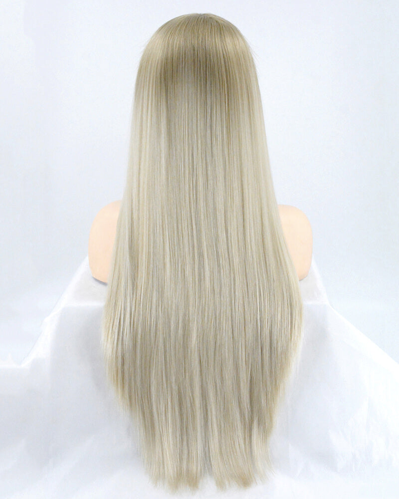 Long Ombre Blonde Synthetic Lace Front Wig WT019