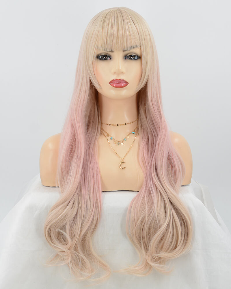 Ombre Pink Synthetic Wig HW102