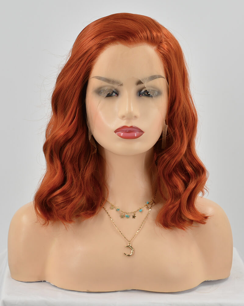 Cooper Red Short Curly Synthetic Lace Front Wig WT180
