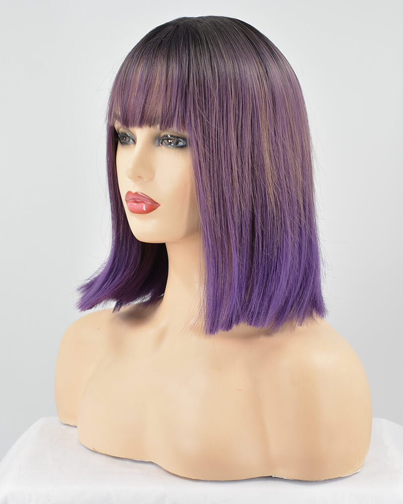 Ombre Purple Hard Front Wig HW039