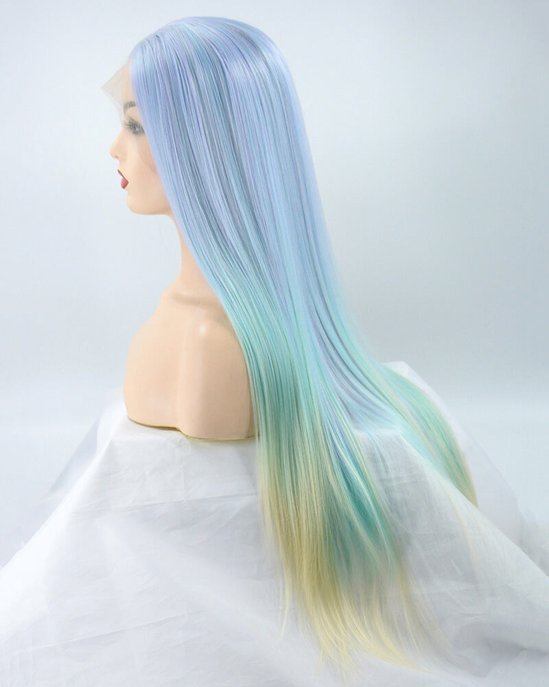 Unicorn Ombre Synthetic Lace Front Wig WW056
