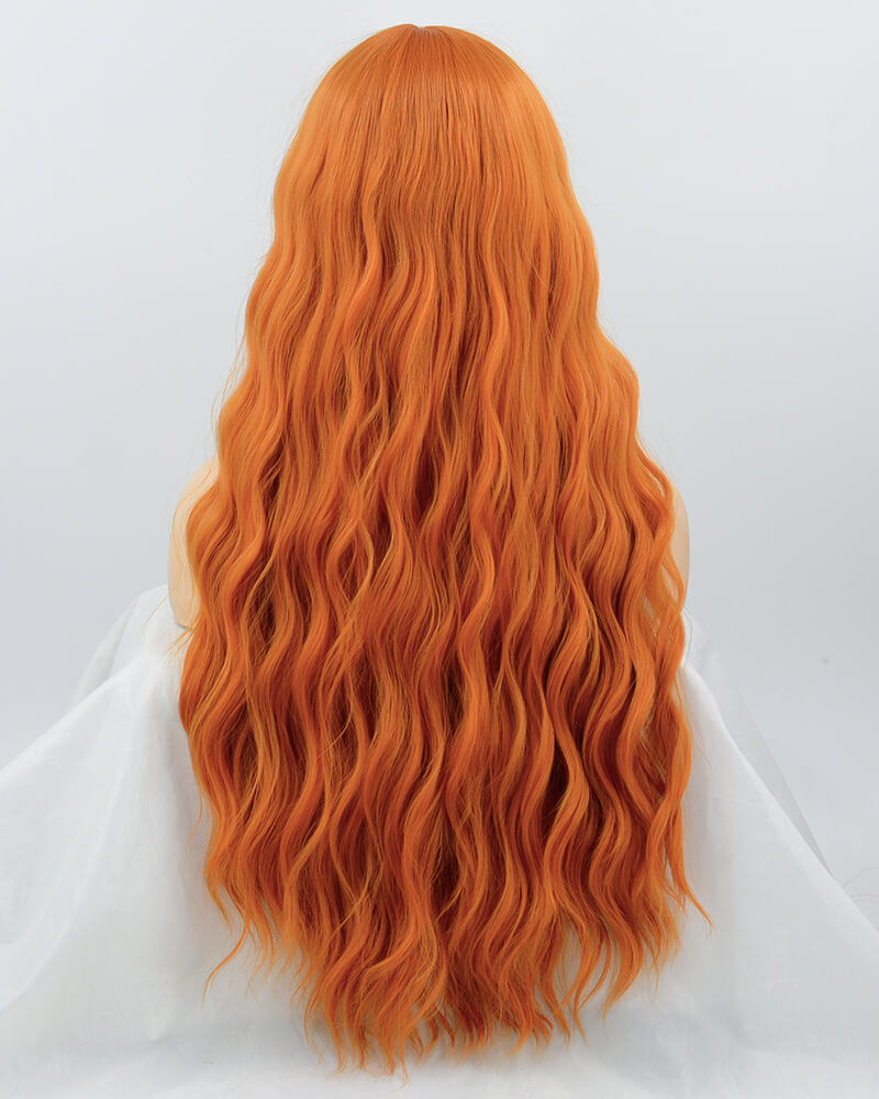 Orange Curly Synthetic Wig HW090