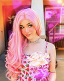 Pink Synthetic Lace Front Wig WT044