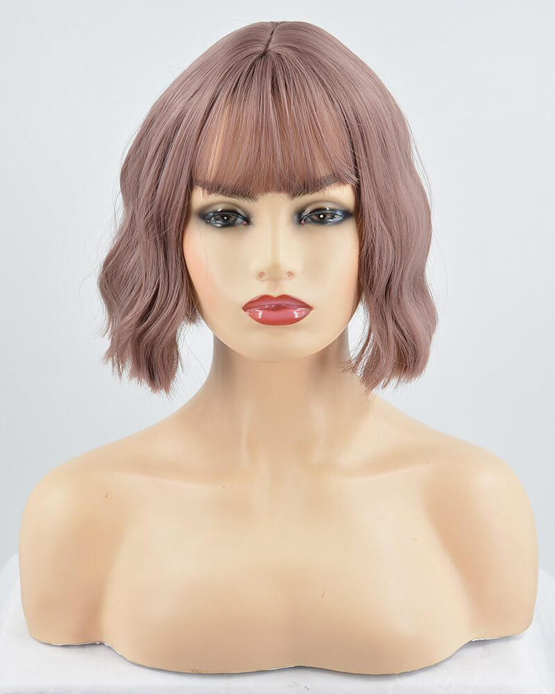 Pink Wavy Hard Front Wig HW035