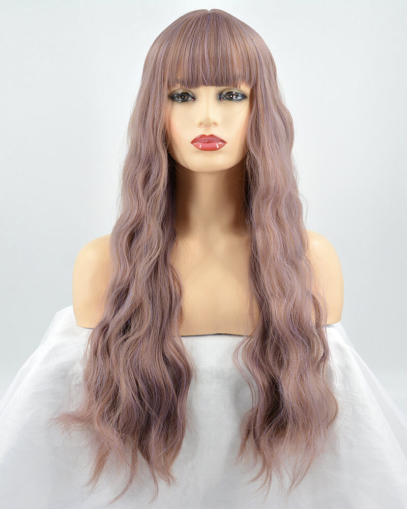 Mixed Pink Hard Front Wig HW022