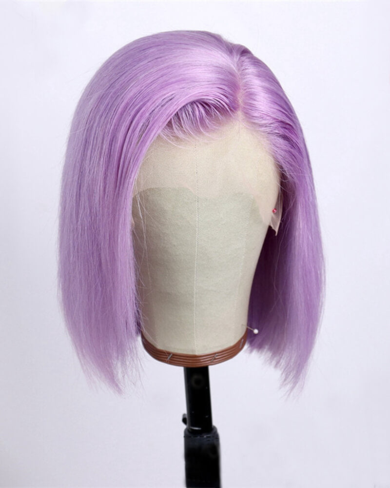 Purple Short Human Hair HT013