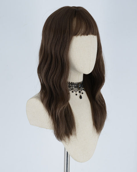 Brown Curl Short Synthetic Lace Front Wig WW059