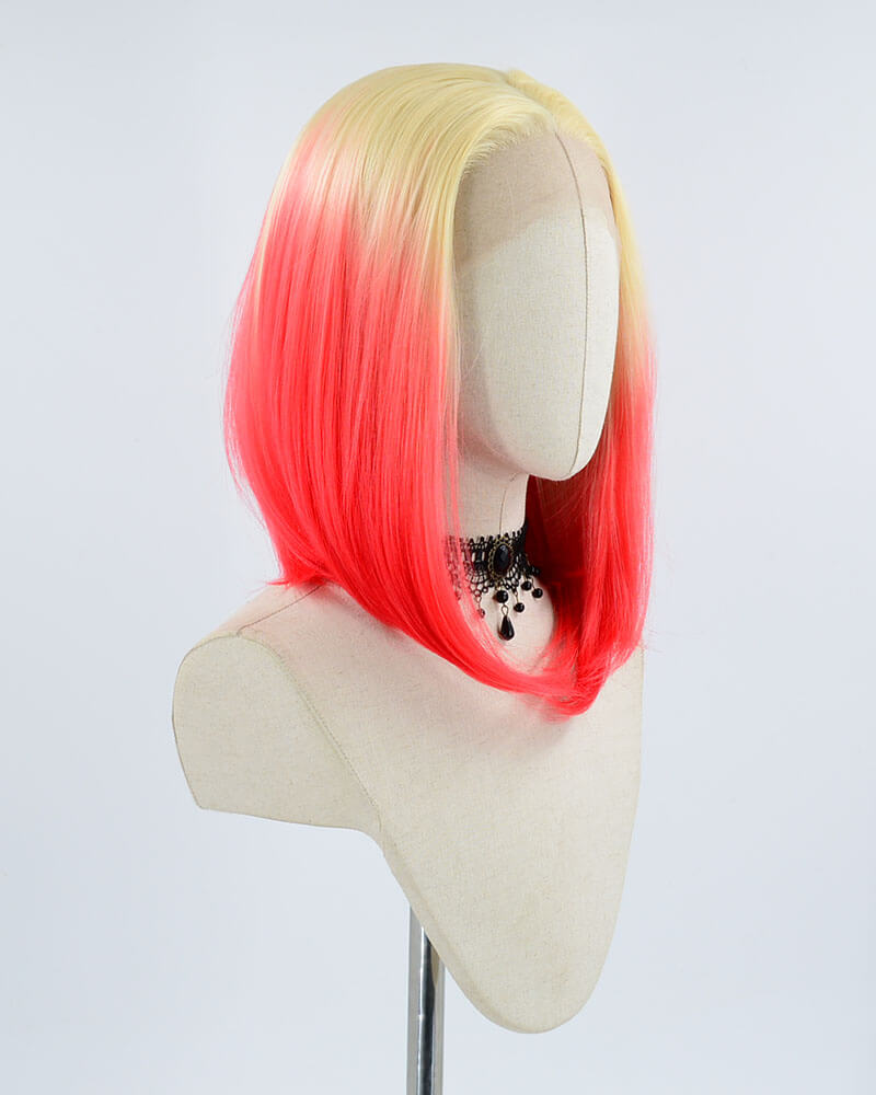 Short Ombre Synthetic Lace Front Wig WW132