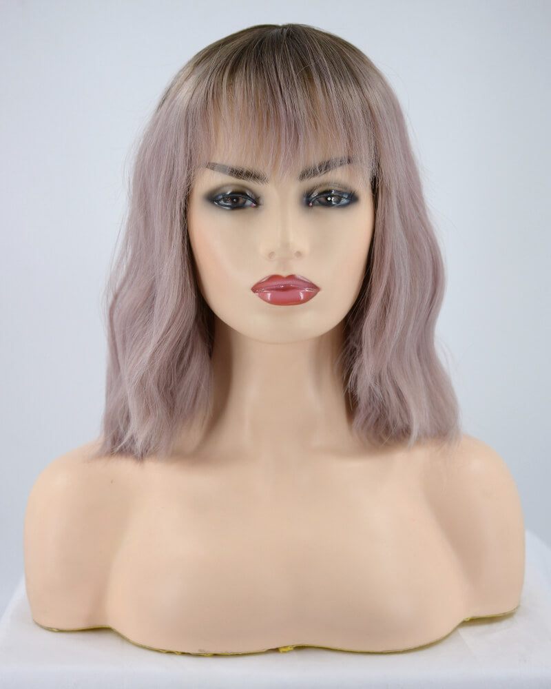 Ombre Synthetic Lace Front Wig With Bangs WW183